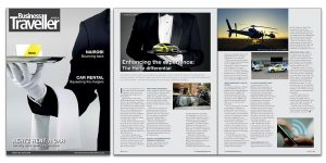 Business Traveller - cover and advertorial