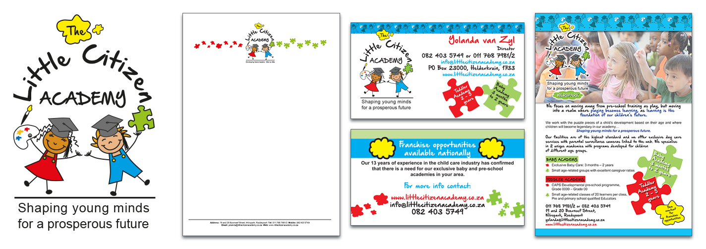 Little Citizen Academy - stationery and flyer