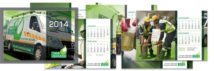 Tank Services - flip calendar